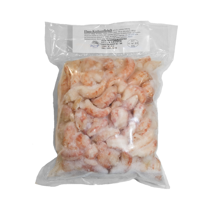 Flusskrebsfleisch - gekocht