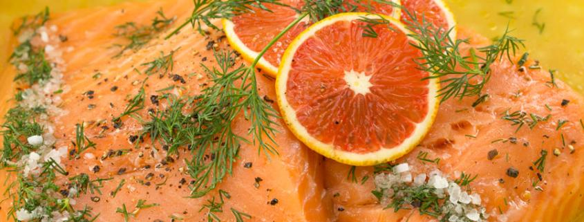 Fischtopf mit Grapefruits