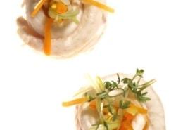 Seezungenröllchen vom Grill mit Schwammerl und gegrillten Nudeln