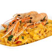 Spaghetti aglio e olio con aragosta