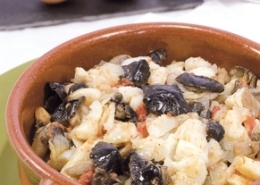 Bacalao auf spanische Art (revoltillo de bacalao)