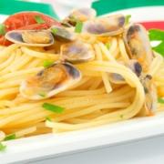 Spaghetti mit Telline/Dreiecksmuscheln