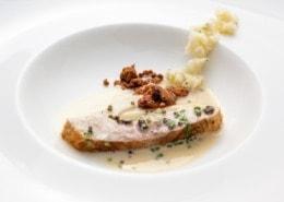 Stör-Sterlet in Weißweinsoße mit Tagliatelle und Korianderpesto (Leserrezept)