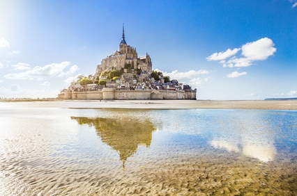 In der malerischen Bucht des Mont St. Michel erhalten die Muscheln ihr einzigartiges Aroma
