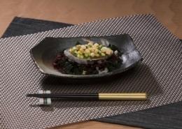 Abalone-Carpaccio roh mariniert