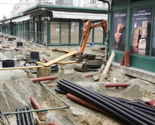 Die Baustelle ist nun auch am oberen Naschmarkt angekommen!