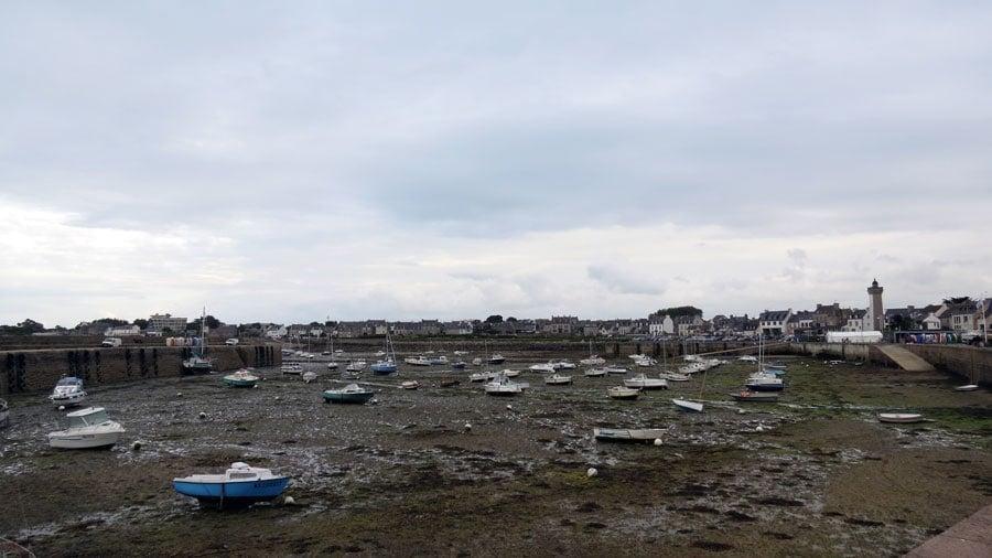 Der Unterschied zwischen Ebbe und Flut in der Bretagne...